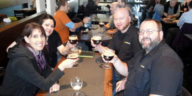 Drinking Westies at In De Vrede Cafe in Westvleteren is a Highlight of our Beer Trips